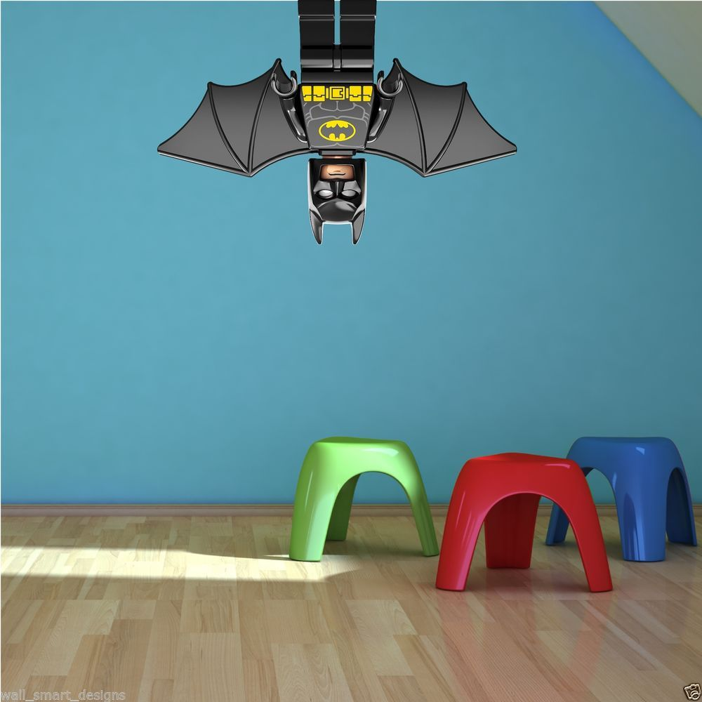 Boys Bedroom Mural Ideas | ... Boy Bedroom Decoration With Blue Lego Batman  Bedroom
