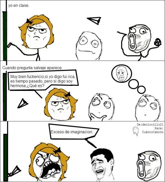 ¡Qué preguntas más obvias me hace la profesora!
