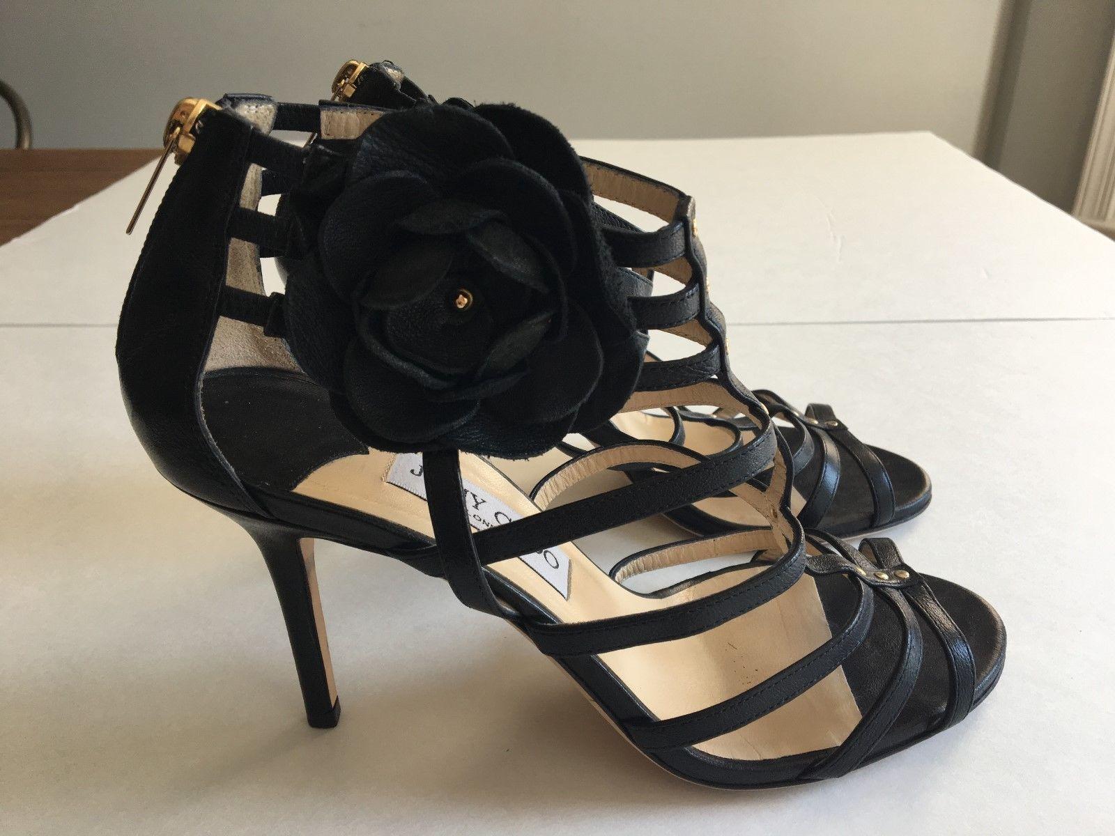 Jimmy size Choo nero heels size Jimmy 39 1 2 (size 9.5)   Designer Heels   7fd754