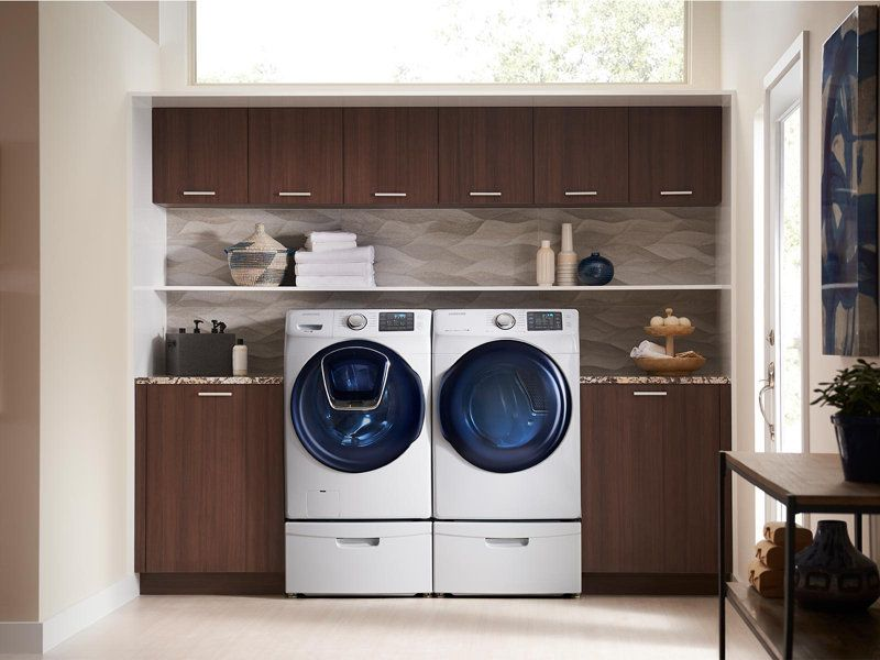 27 Pedestal Laundry Room Design Samsung Washer Samsung Appliances