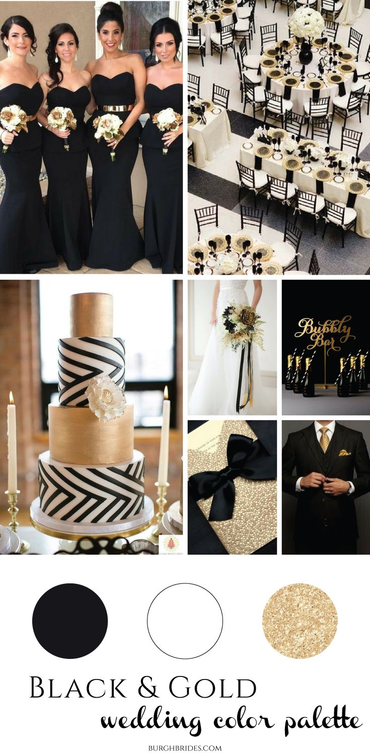 Black Gold Wedding Inspiration Black Gold Wedding Gold Wedding Theme Gold Wedding Colors