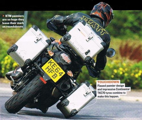 Impressive Continental TKC 70s Leave Their Mark On RiDE Magazines KTM 1050 Adventure Panniers