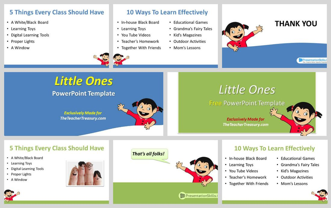 Little Ones \u2013 A Free PowerPoint Template For Teachers