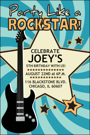 Rock And Roll Party Invitation Wording Party Like A Rock