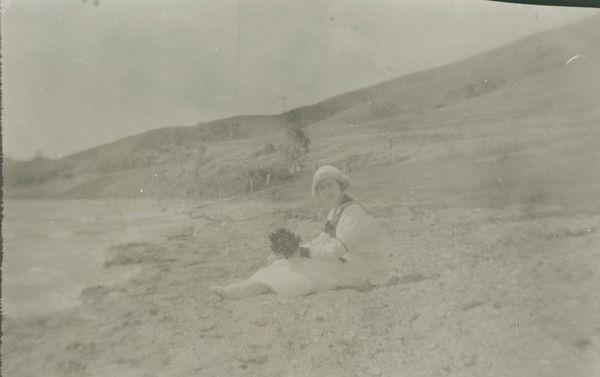 [Woman on beach] | saskhistoryonline.ca