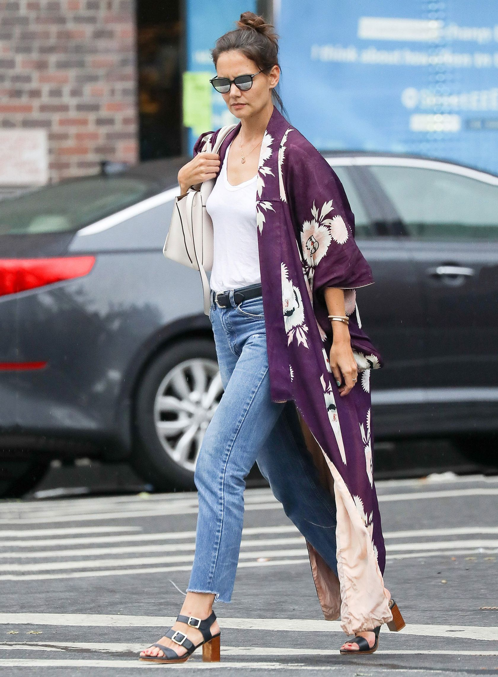 be76850c1b Sydne Style show show to get katie holmes street style in a kimono and jeans