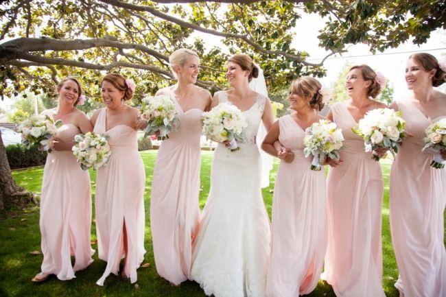 Pretty bridesmaids in pink