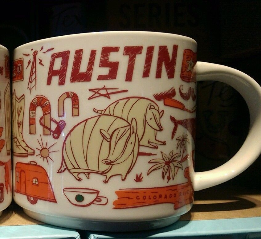 Coffee There Been Armadillo Details Starbucks Mug About Austin New nO0wkP