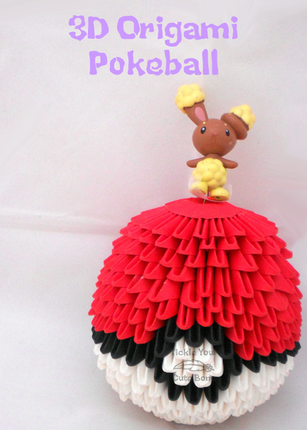 3d Origami Pokeball Antonio Pinterest 3d Origami Origami And