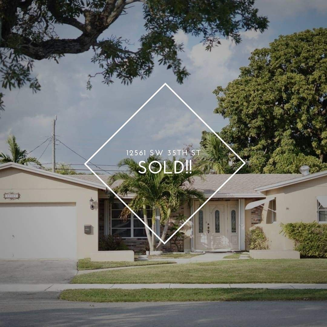 Sold 12561 Sw 35th St Miami Fl 33175 With Images Miami