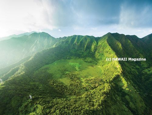 Kaau Crater on Oahu.