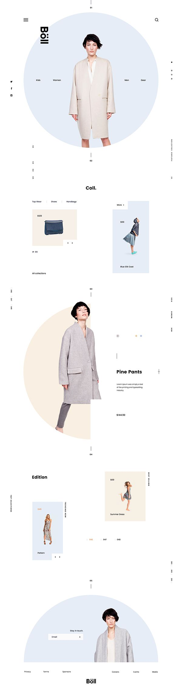 Website Design For Fashion E Commerce Design Style Inspired From Scandinavian Japanese Fusi Fashion Layout Website Design Inspiration Web Design Inspiration