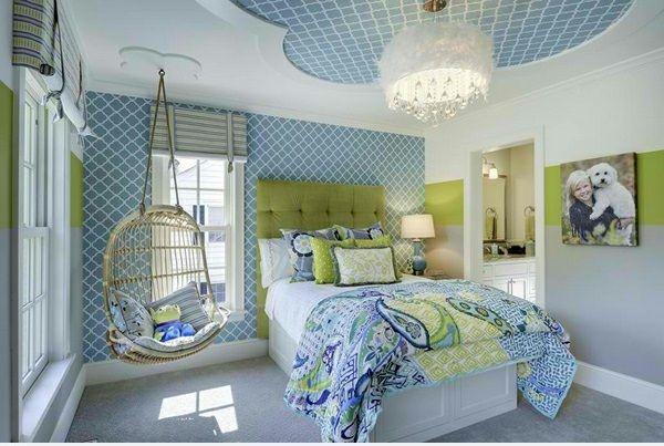 Schne Wohnideen Schlafzimmer : Hinreißender schaukelstuhl im schlafzimmer schöne wohnideen