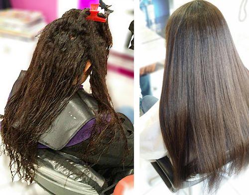 lissage japonais avant apr s cheveux id es coiffures pinterest lissage japonais lissage. Black Bedroom Furniture Sets. Home Design Ideas