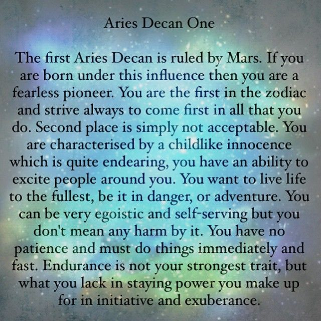 first decan taurus daily horoscope