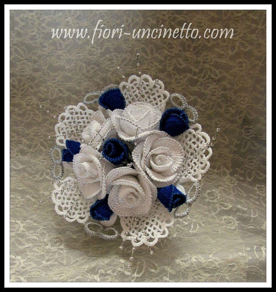 Fiori alluncinetto crochet flowers wedding crochet pinterest fiori alluncinetto crochet flowers izmirmasajfo