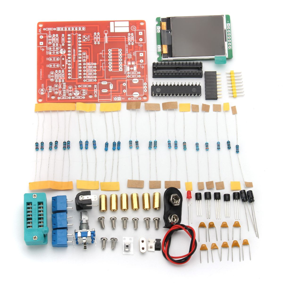 DIY Mega328 Transistor Tester Capacitance Inductance ESR Meter ...