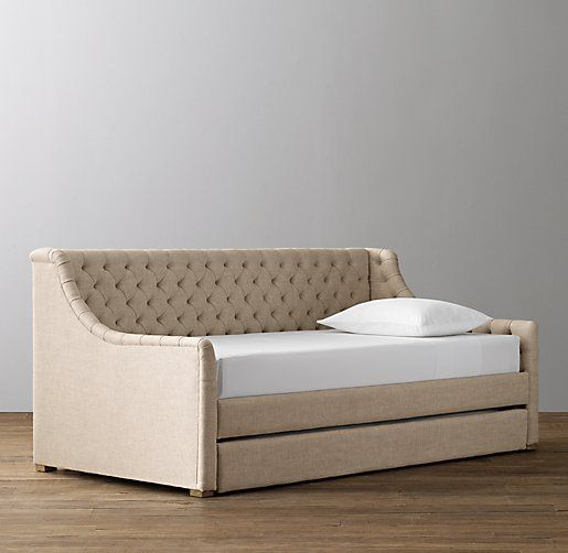 Devyn Tufted Upholstered Daybed with Trundle - great way to save ...