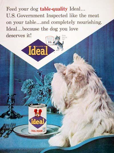 1964 Ideal Dog Food Classic Vintage Print Ad Dog Food Recipes