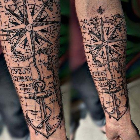 55 Amazing Nautical Star Tattoos With Meanings For Men And Women Hipster Tattoo Tattoos Nautical Star Tattoos