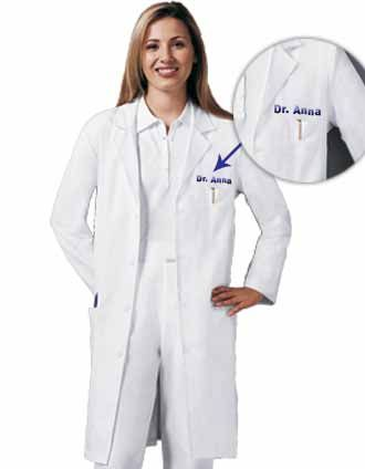 If you're in need of a long white lab coat, this is a good treat ...