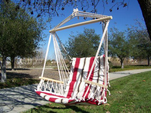 Petras Polycotton Padded Hammock Chair Swing, Red Elegant Stripe Color.  Petra Http:/
