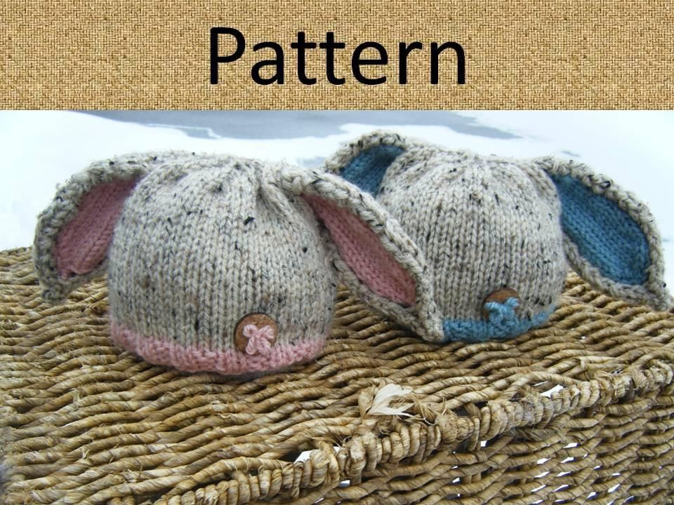 Knit bunny baby hat | Baby hats, Baby hat patterns and Bunny