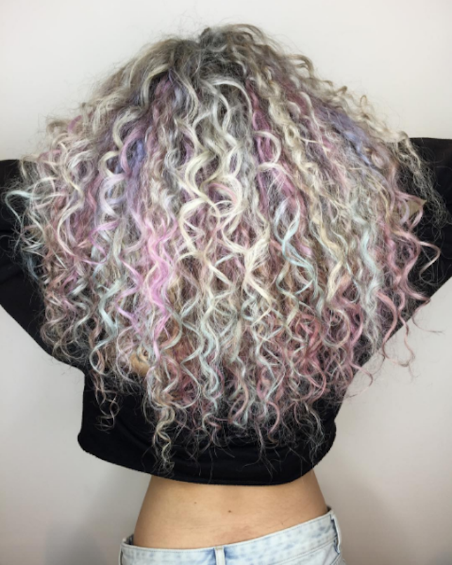 Curly Hair Dye Ideas Opal Hair Curly Hair Pinterest Opal Hair