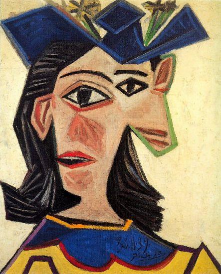 Pablo Picasso. Buste de femme au chapeau (Dora Maar). 1939 year