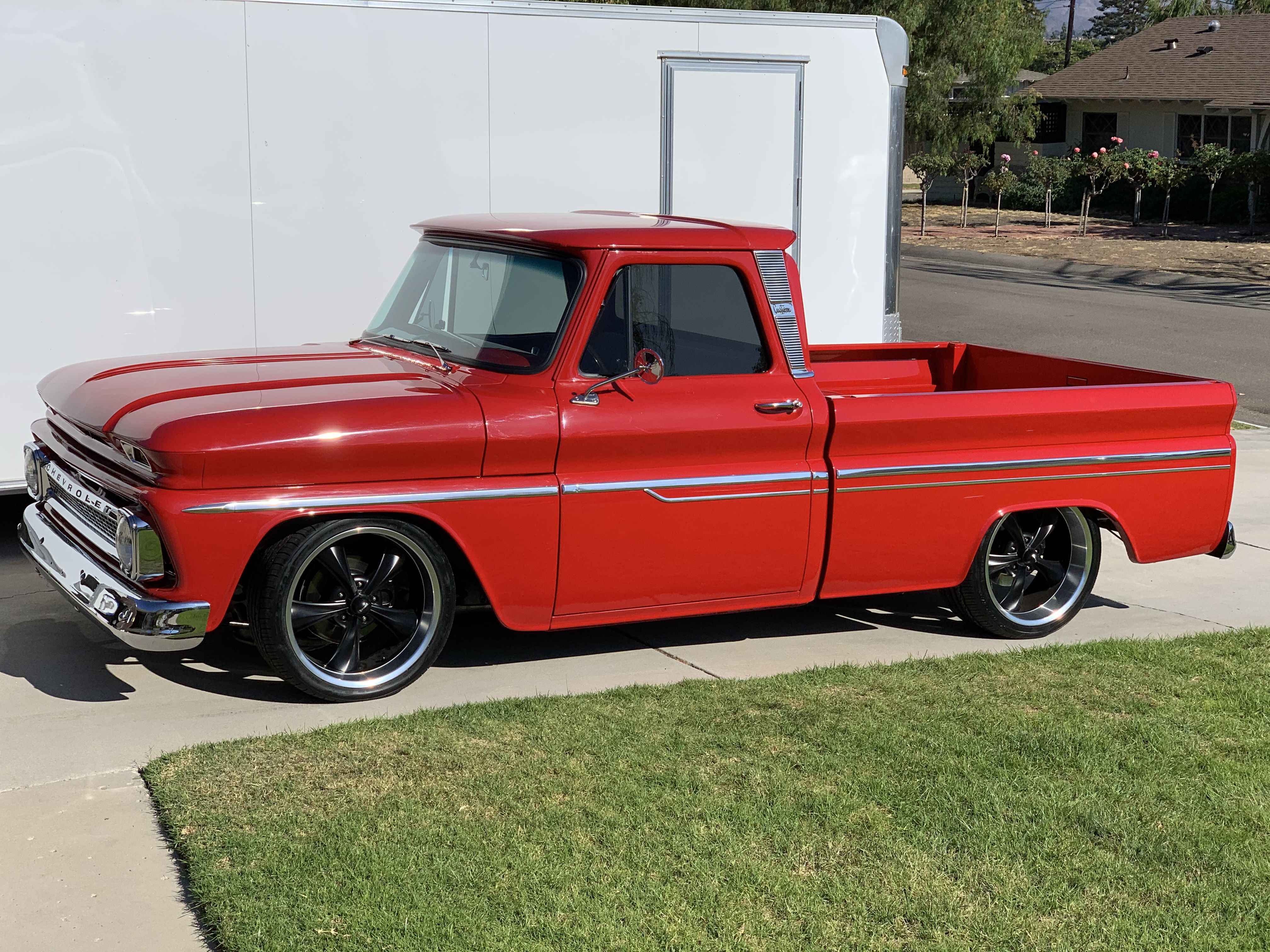 Red Sled 1966 Chevy C10 With Images 1966 Chevy Truck Chevy
