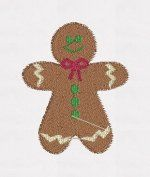 Gingerbread Boy (filled) 4x4 Embroidery Design