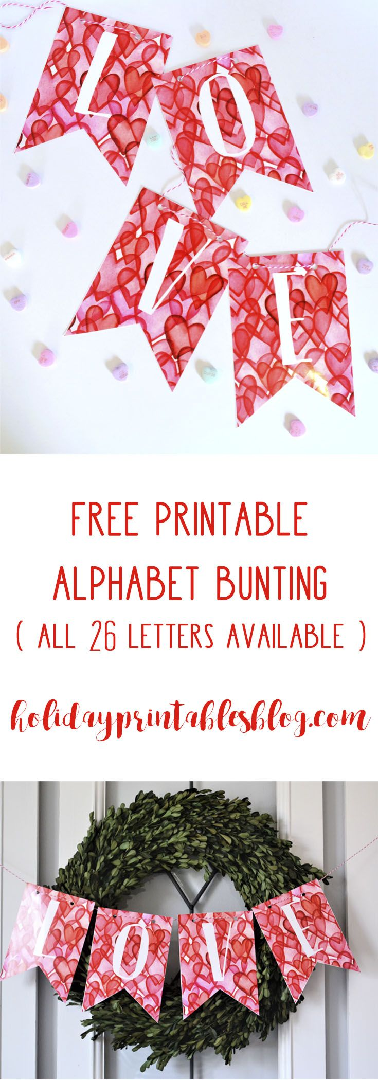 Free Printable Alphabet Banner Perfect For ValentineS Day