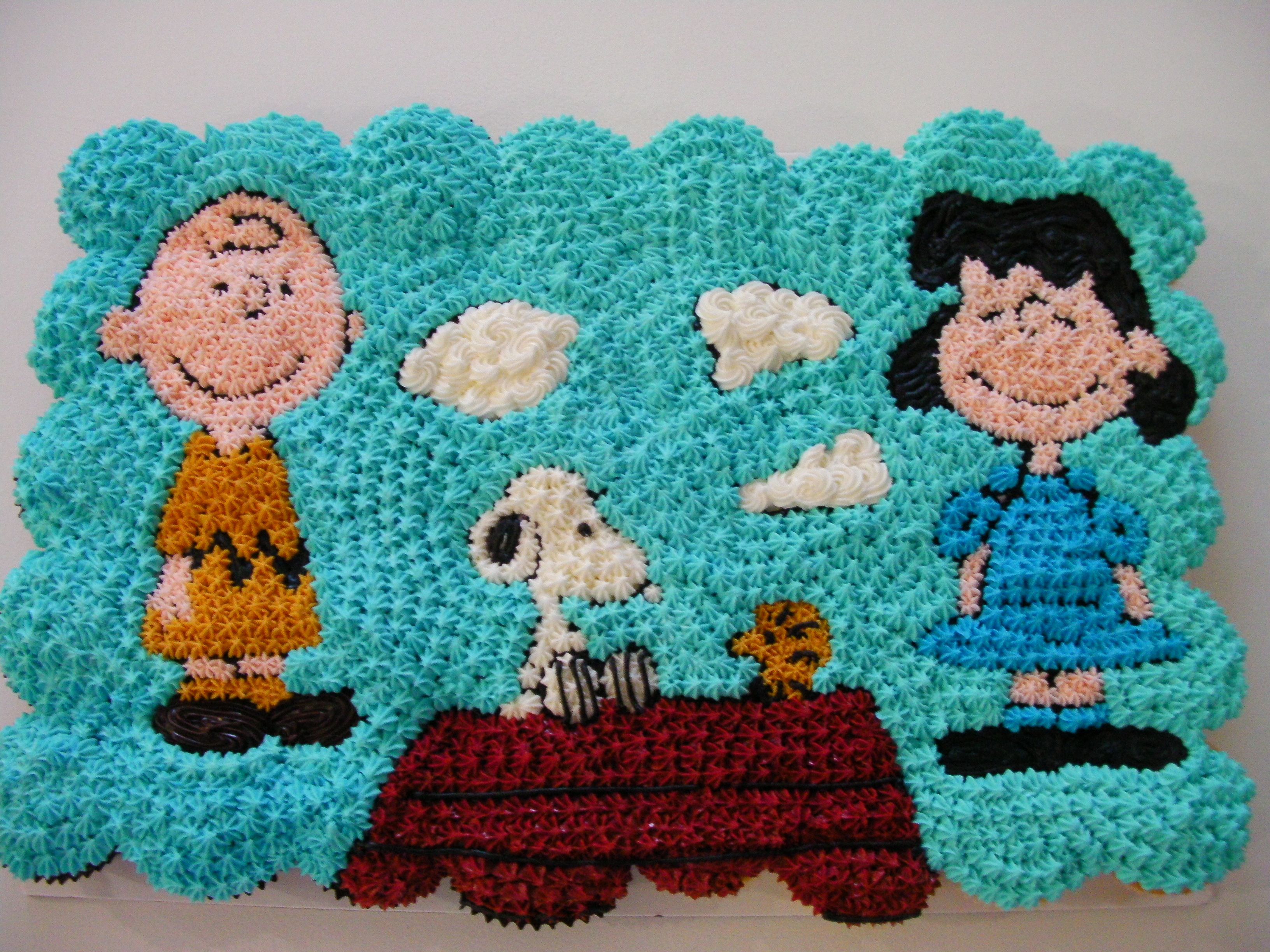 Snoopy And Friends Cupcake Cake Nisugarcreations