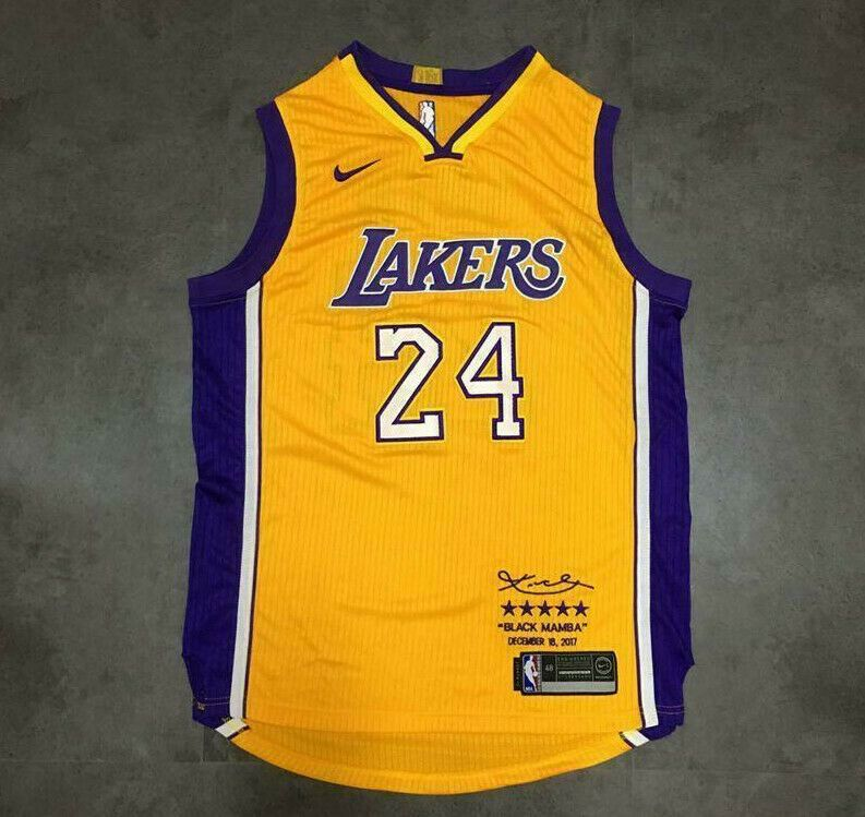 Top Quality Los Angeles Lakers Basketball 24 Kobe Bryant 1 Nba Jersey Dense Au Fabric Retired Limited Edition Dense In 2020 Nba Jersey Basketball Jersey Jersey Outfit
