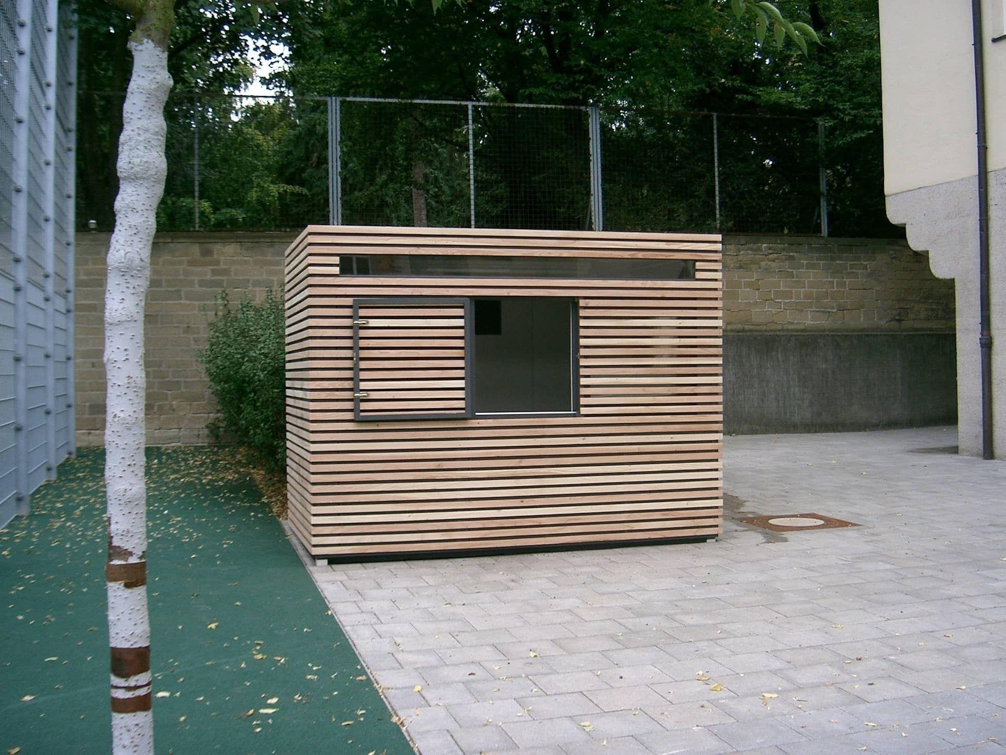 Design gerätehaus als verkaufstheke moderne schulen von