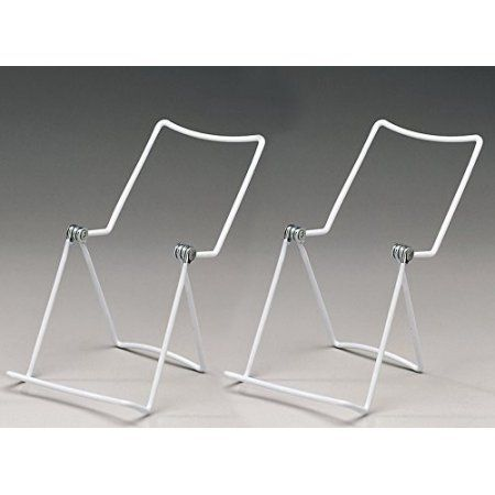 Metal Wire Easels White Vinyl Coated Display Plate Stand Holder Classy Plate Display Stands Walmart