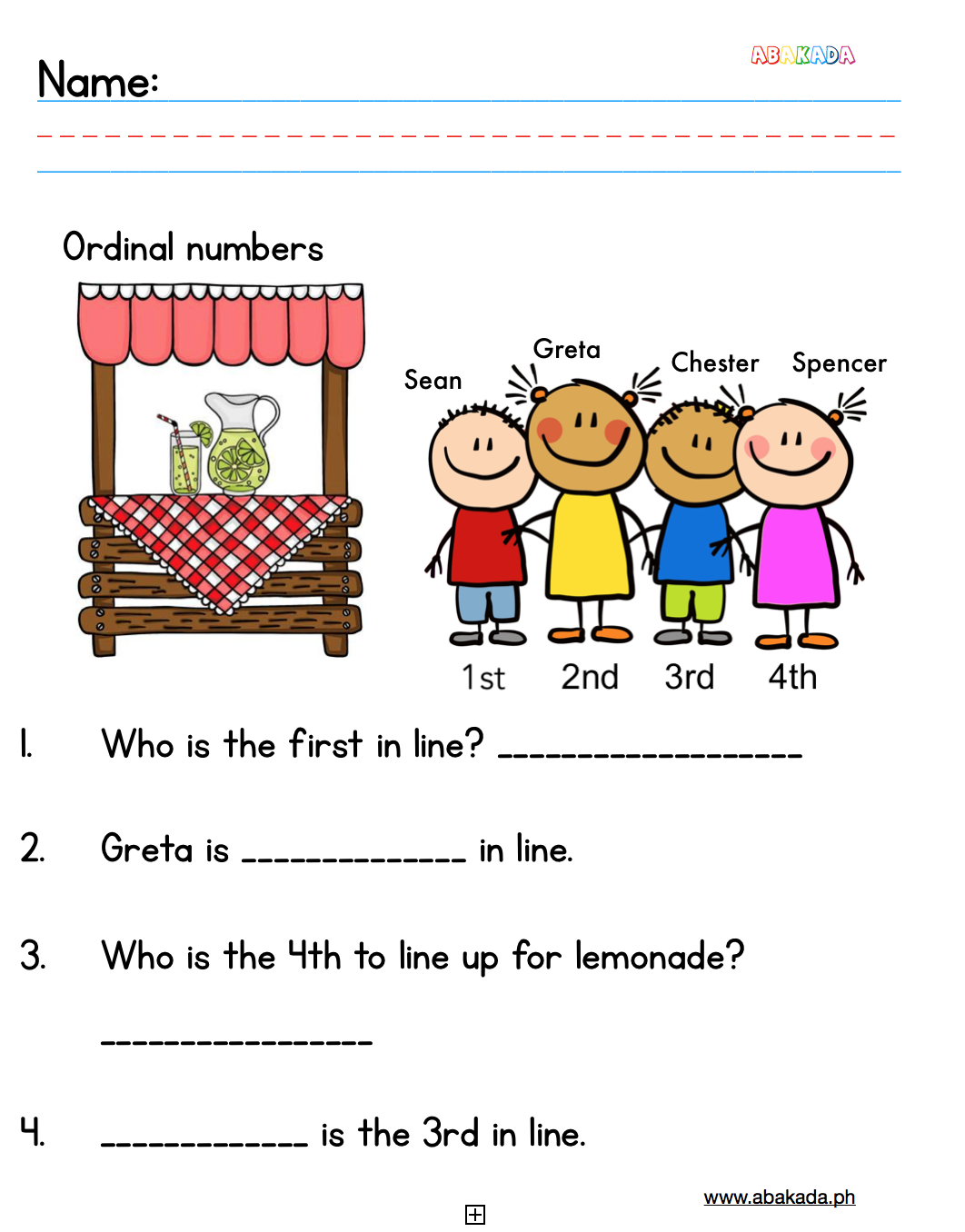 Pin By Abakada On Free Worksheets For Grade 1