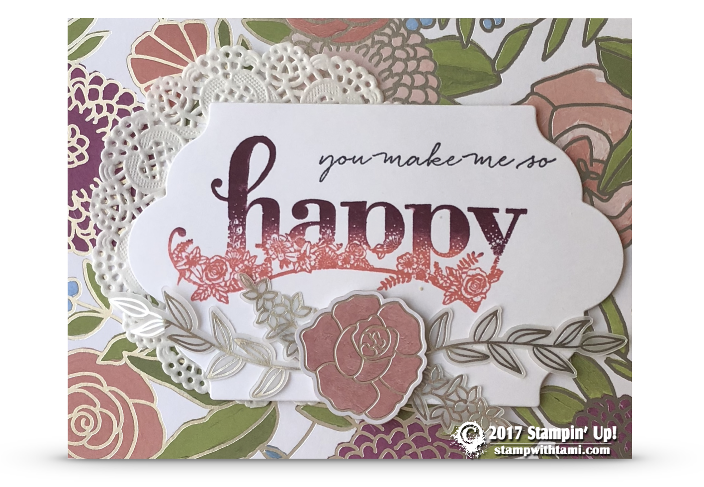 Card Today S Share Is A Gorgeous You Make Me So Hy From The New Upcoming Stampin Up Wishes Stamp Set