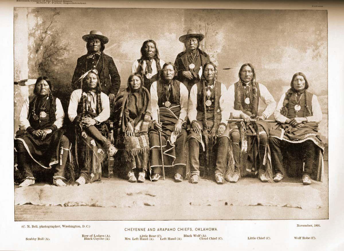 Cheyenne and Arapahoe Chiefs Oklahoma 1891 | Indios americanos ...
