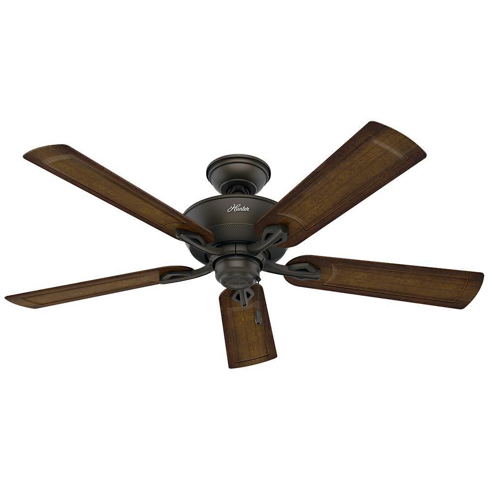 Hunter Caicos 52 In Indoor Outdoor New Bronze Wet Rated Ceiling