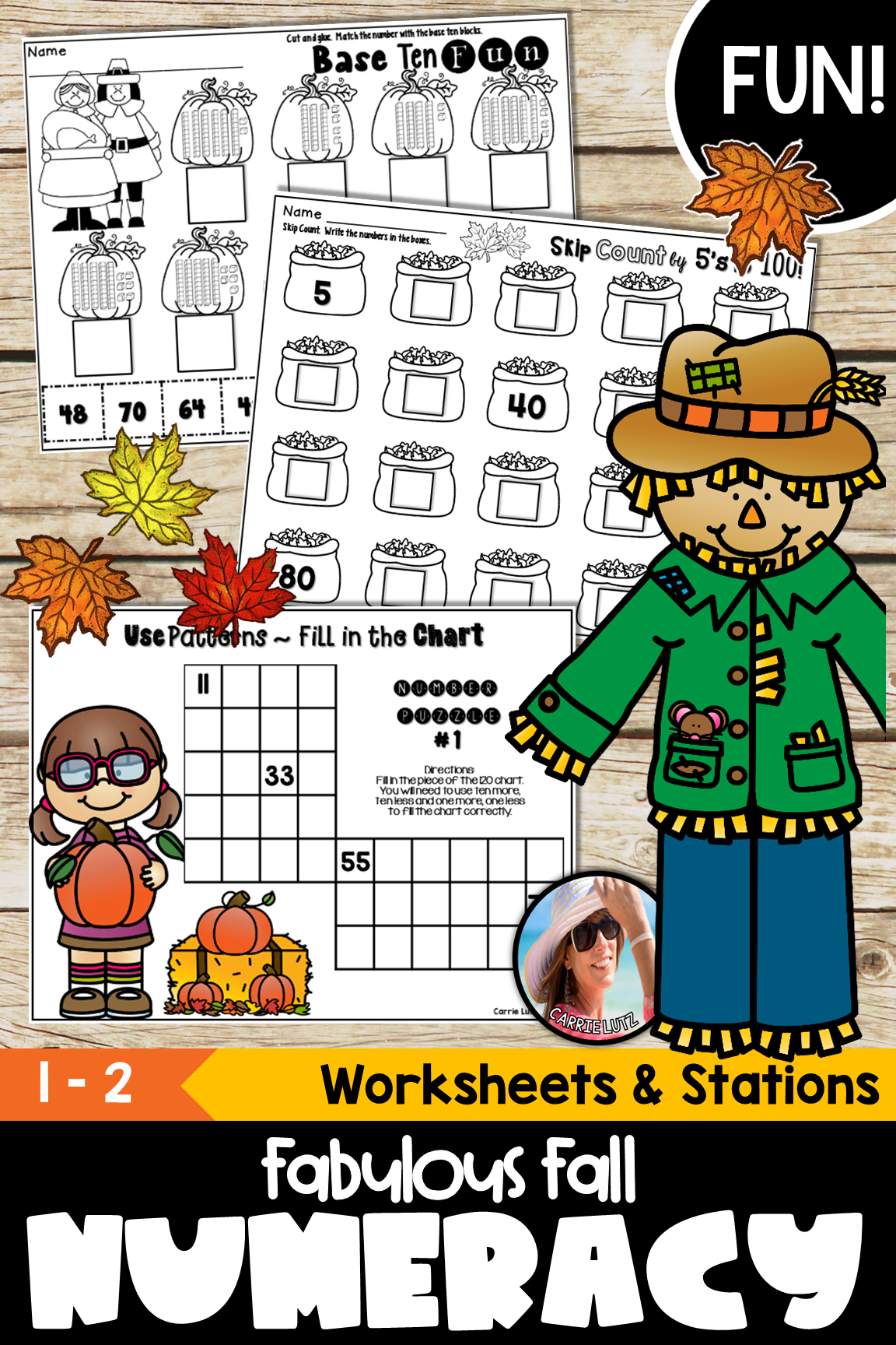 Fall Math Worksheets Numeracy To 99