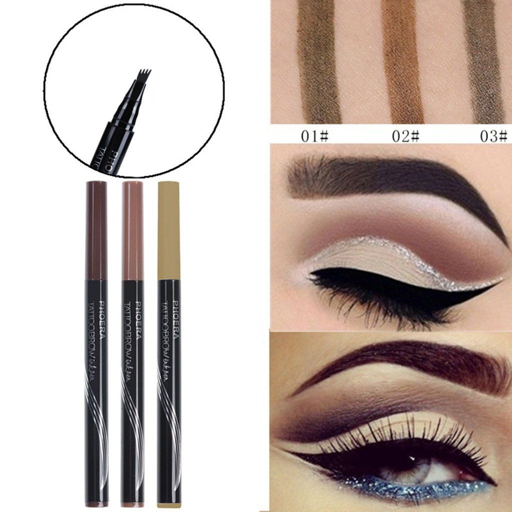 Phoera Automatic Matte Eyebrow Pencil Waterproof Eyebrow Tattoo With