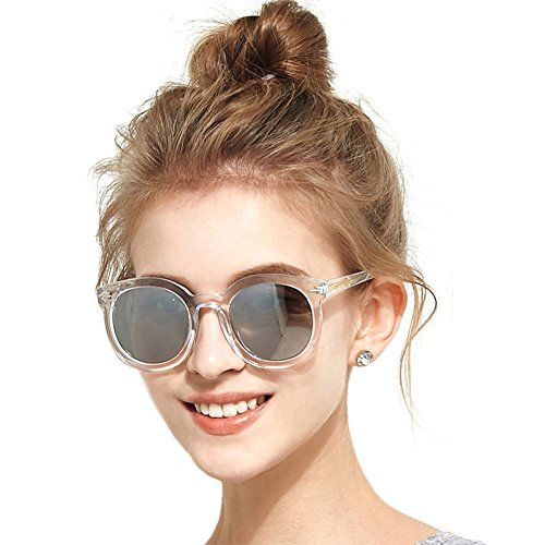 7f32338c3a7 BLUEKIKI YEUX Women Polarized Sunglasses Vintage Oversized Round  MirrorSilver 61 -- Want to know more