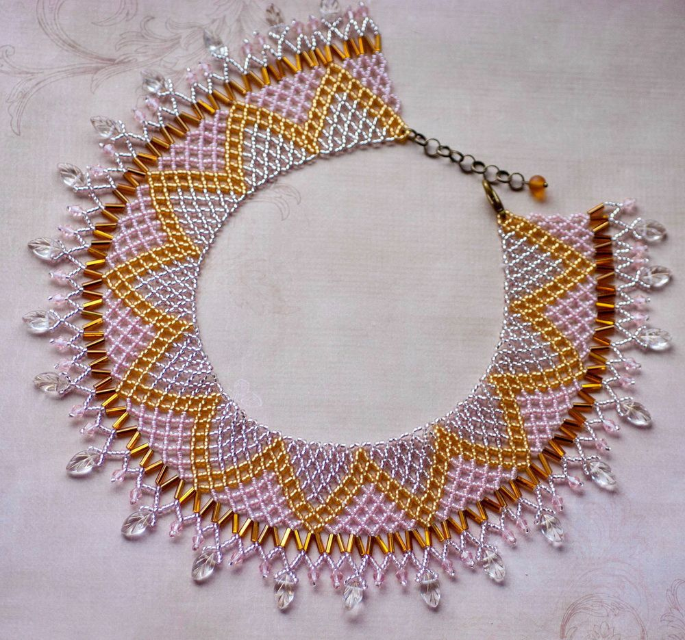 Free pattern for necklace Crystal Leaves (Beads Magic) | Collares ...