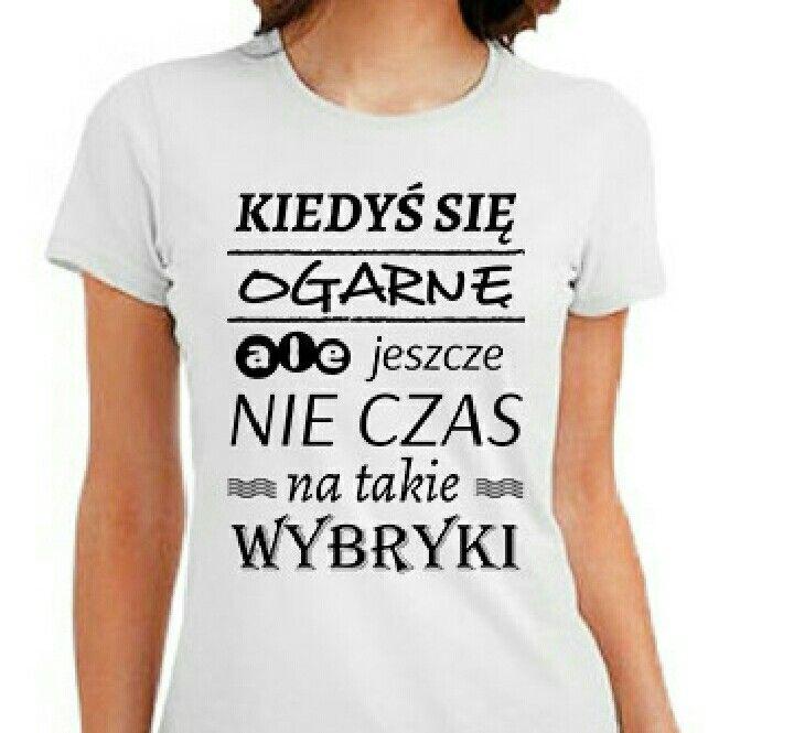 Pin By Marzena Anna On Koszulki Z Napisami Black Pattern T Shirts For Women Sentences