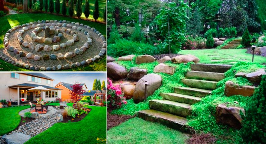 33 id es pour sublimer votre jardin l 39 aide de pierres for Jardin synonyme