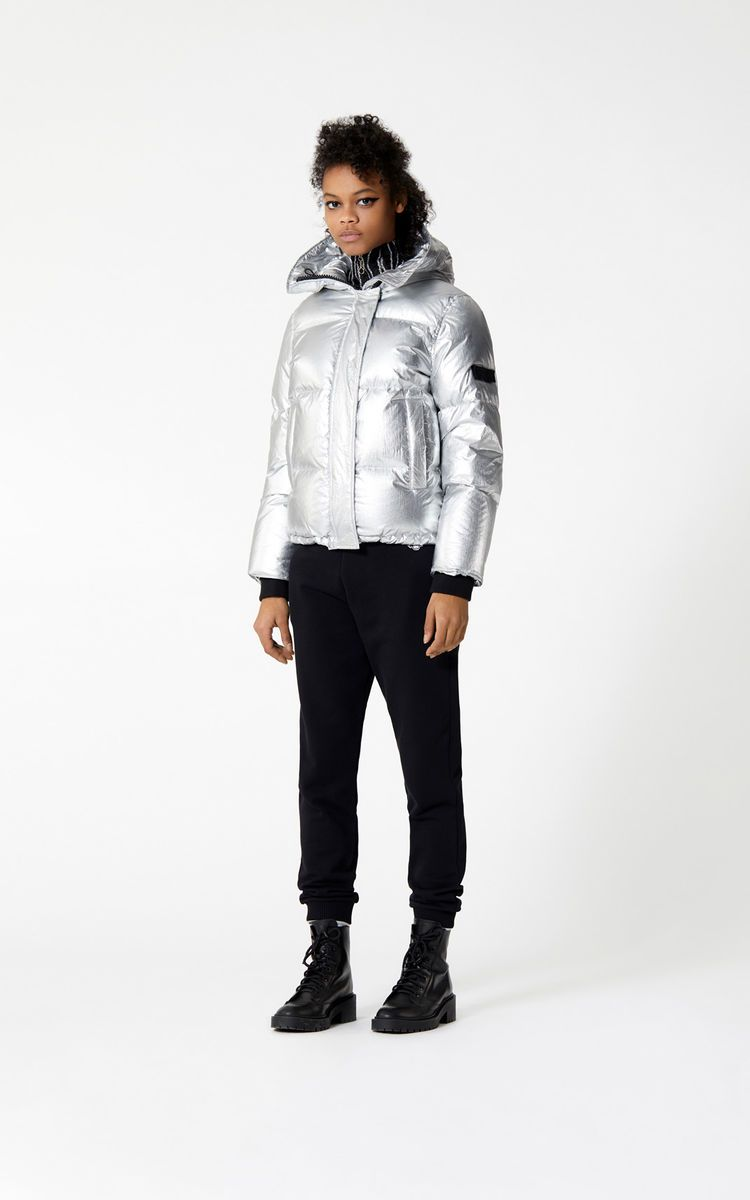 22ebc0f3 SILVER Hooded quilted down jacket for women KENZO | Winter ...