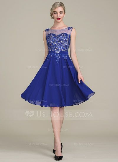 0afec621873 A-Line Princess Scoop Neck Knee-Length Beading Sequins Zipper Up Cap Straps  Sleeveless Yes Other Colors General Plus Chiffon Lace Height 5.7ft  Bust 33in ...