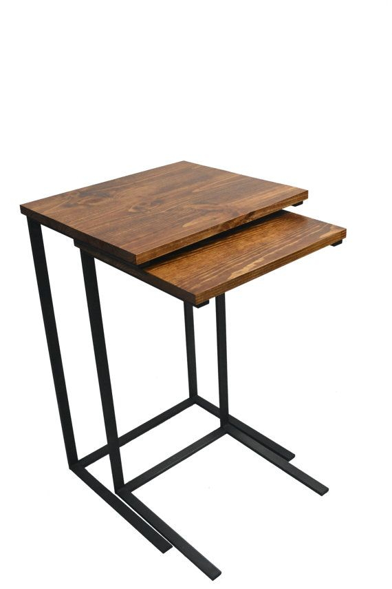 Perfect These Reclaimed Wood And Metal Nesting TV Tray Tables Have Many Uses! They  Works Great As Laptop Desks, Side Tables, Night Stands, Or, Of