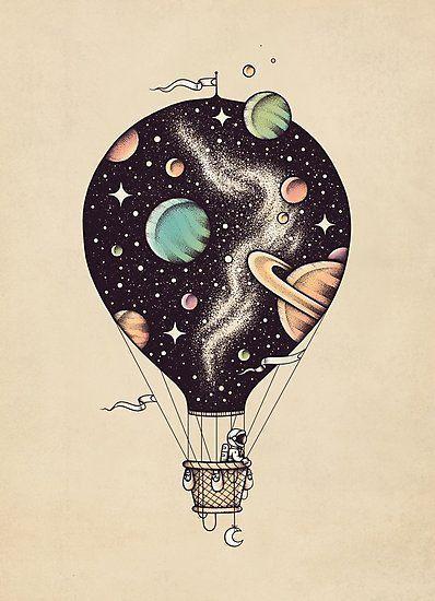 Interstellar Journey Photographic Print by buko ill-ustration